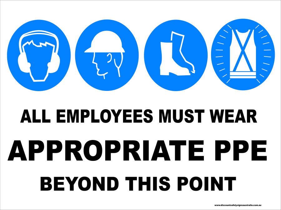 Multi-Condition PPE Signs APPROPRIATE PPE - BEYOND THIS POINT