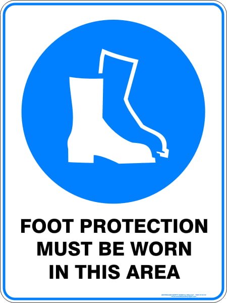 Mandatory Signs FOOT PROTECTION MUST BE WORN IN THIS AREA