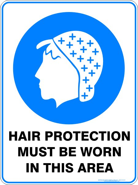 Mandatory Signs HAIR PROTECTION MUST BE WORN