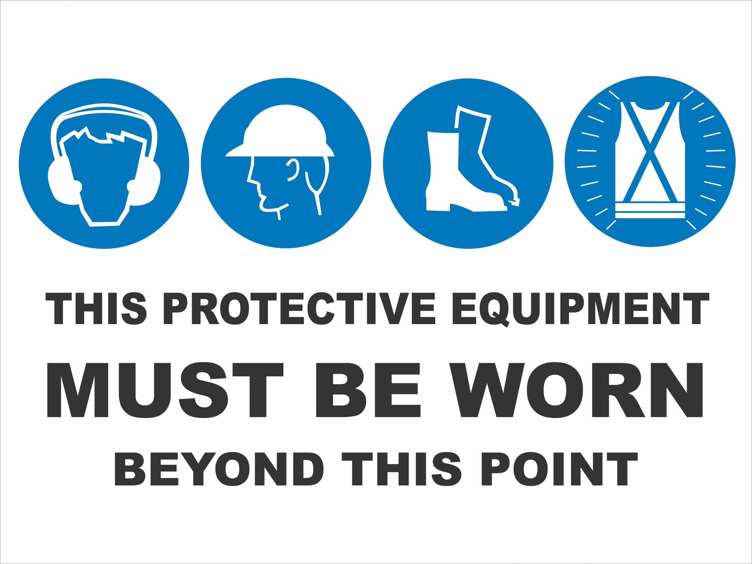 Multi-Condition PPE Signs MULTIPLE CONDITION - BEYOND THIS POINT