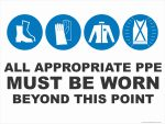 Multi-Condition PPE Signs APPROPRIATE PPE - BEYOND THIS POINT (v2)