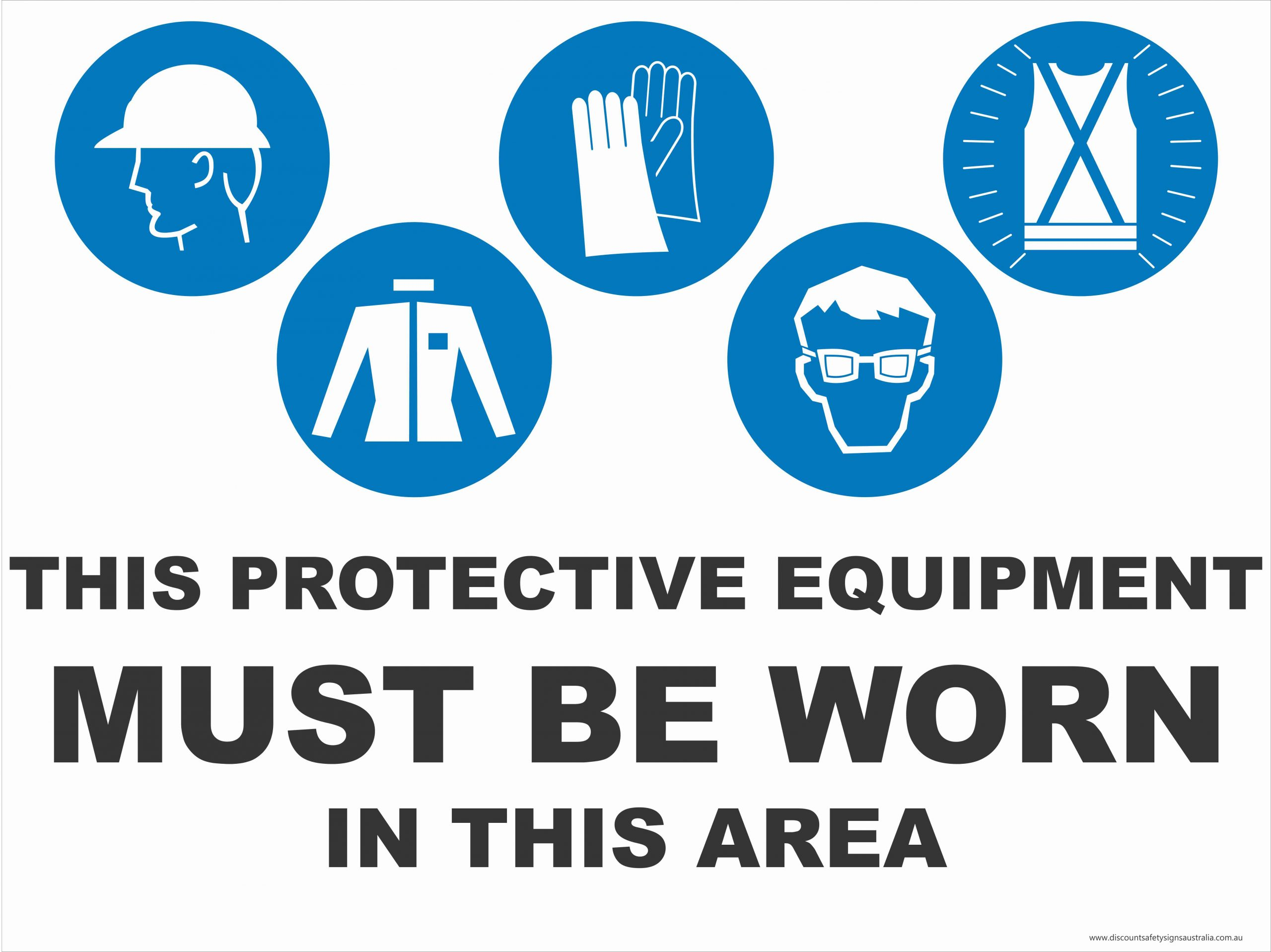 Multi-Condition PPE Signs THIS PPE - IN THIS AREA - 5 CONDITION