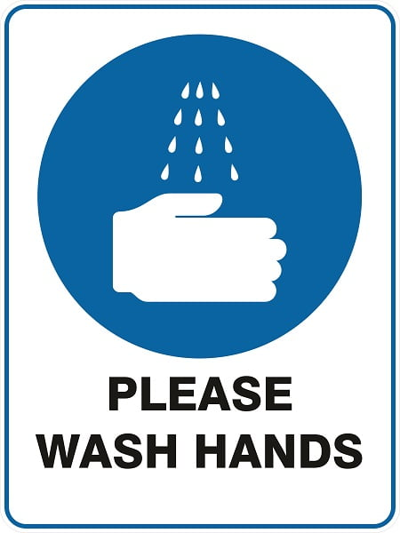 Mandatory Signs PLEASE WASH HANDS