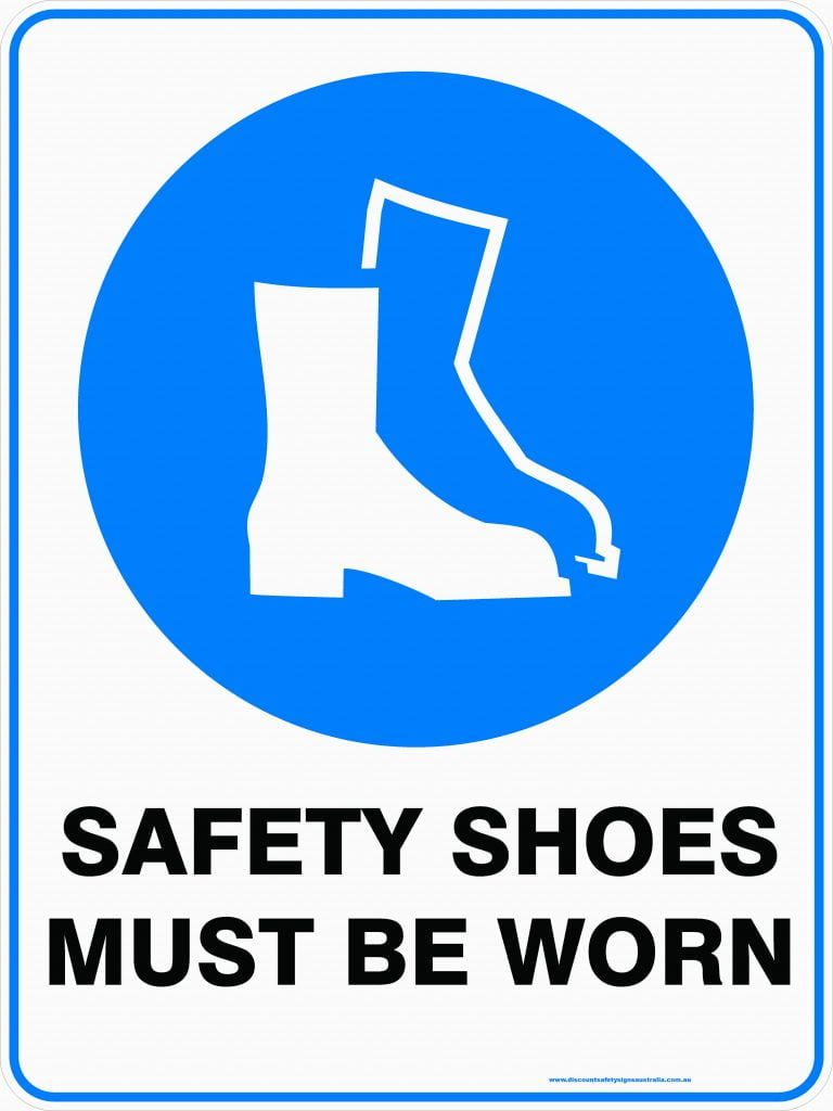 Safety Shoes Must Be Worn Discount Safety Signs New Zealand