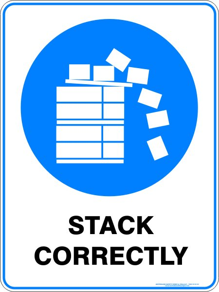 Mandatory Signs STACK CORRECTLY