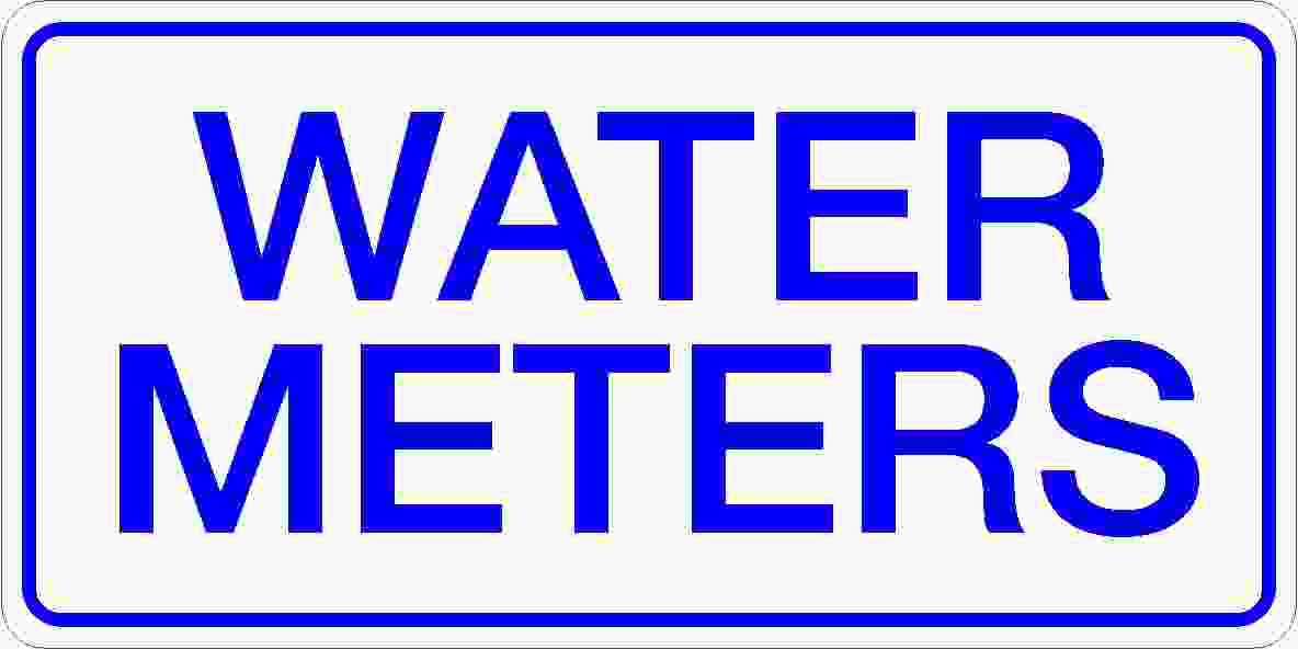 Miscellaneous Signs WATER METERS