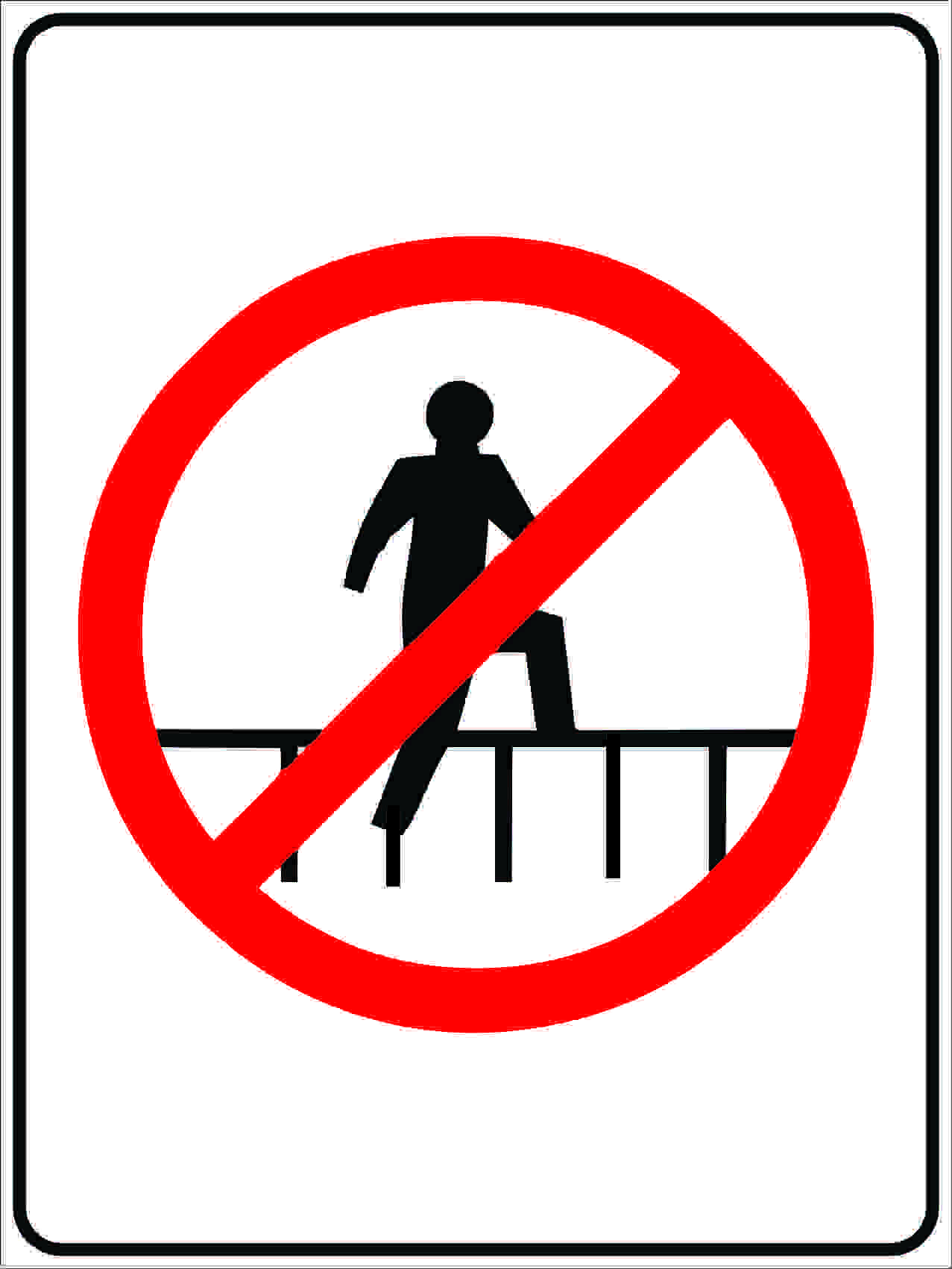 Miscellaneous Signs DO NOT STAND ON RAILS