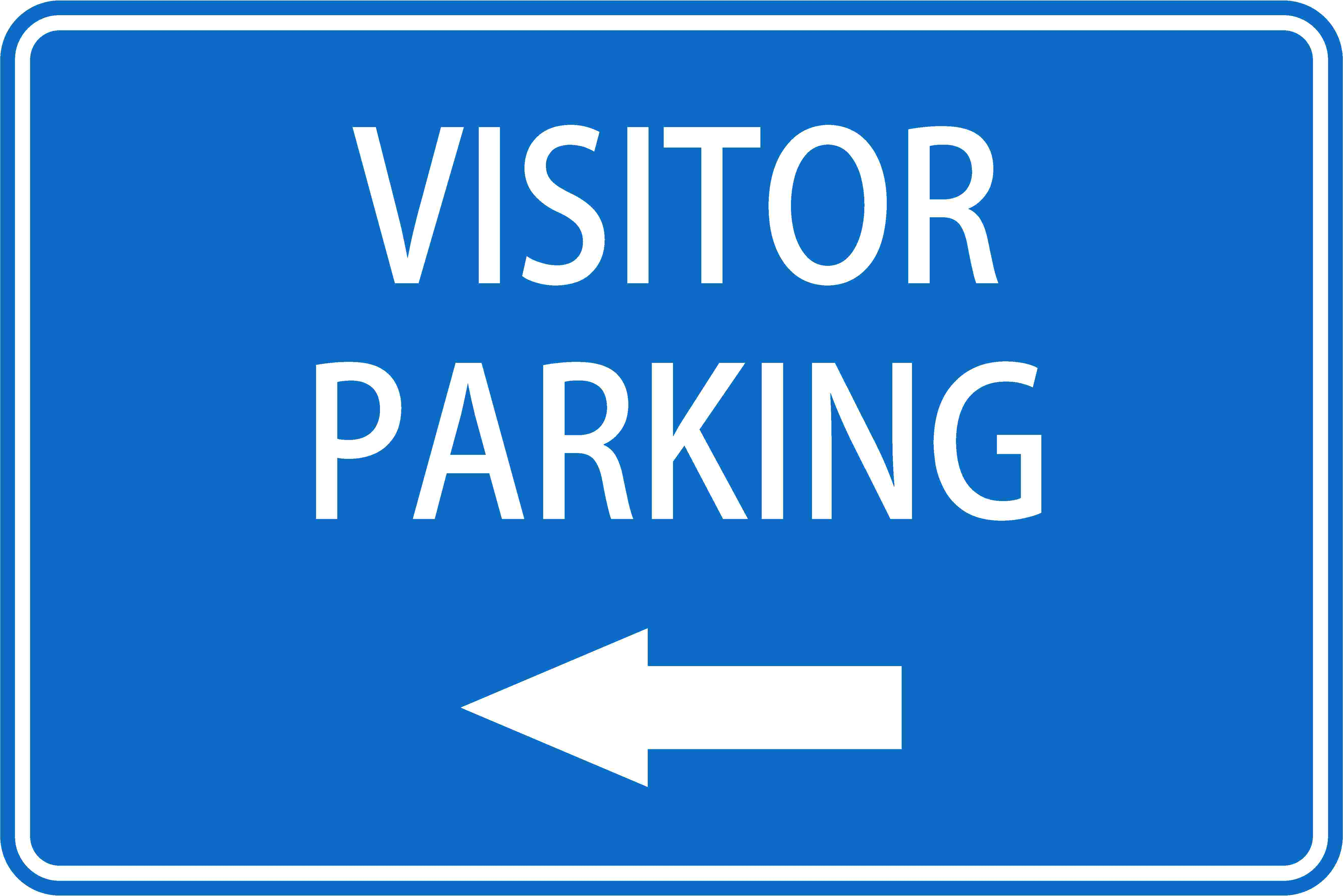 Parking Signs VISITOR PARKING LEFT ARROW