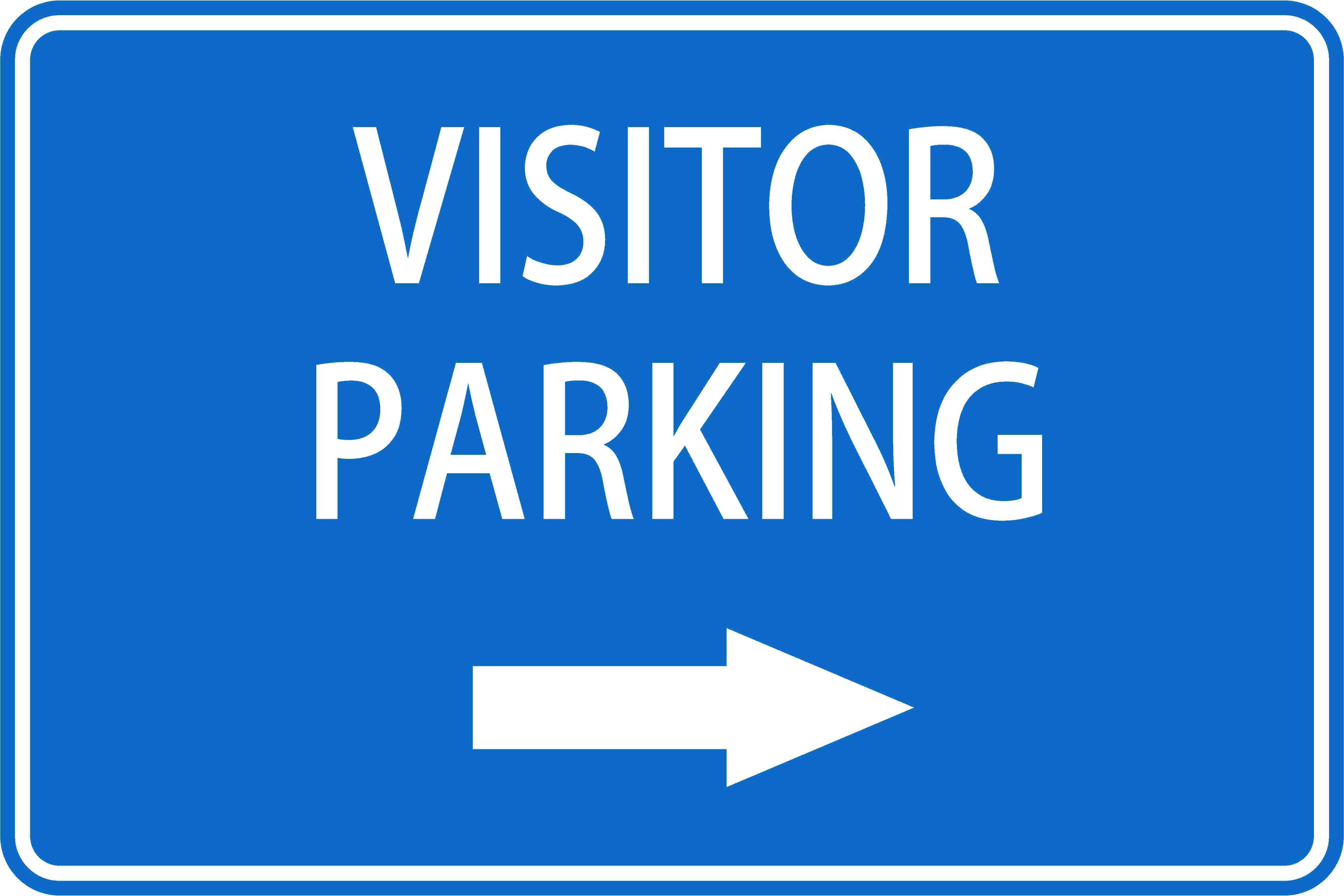 Parking Signs VISITOR PARKING RIGHT ARROW
