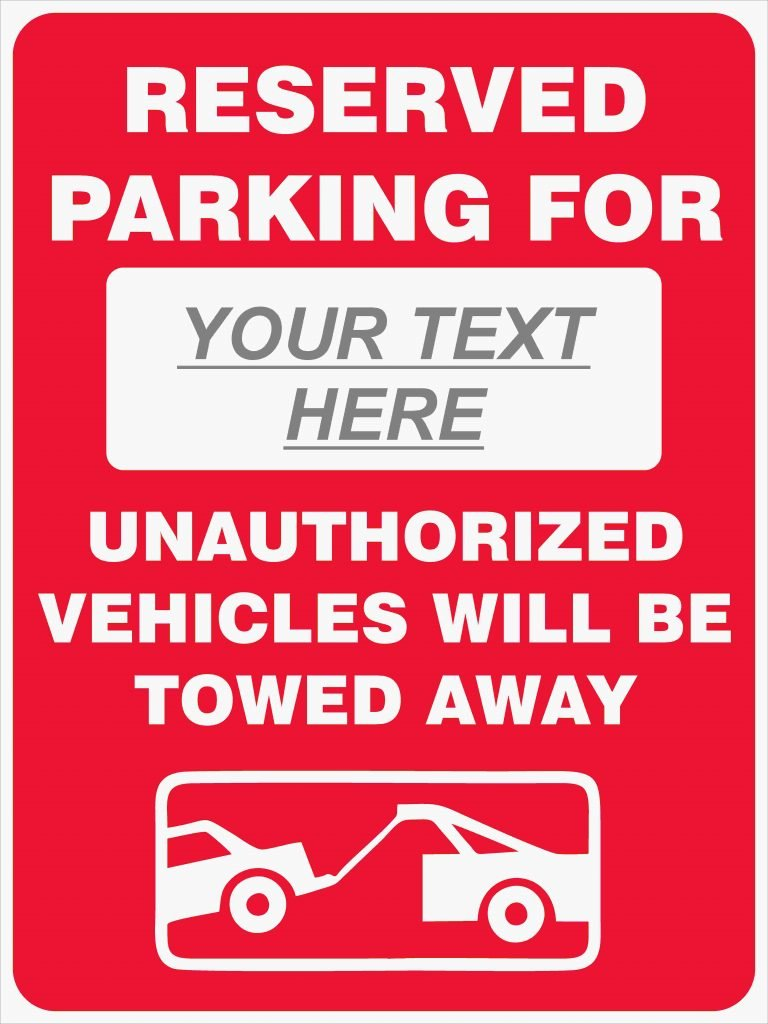 Reserved Parking For Custom Discount Safety Signs New
