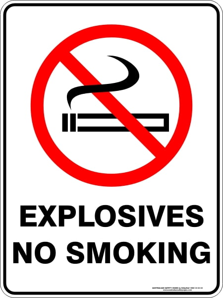 Prohibition Signs EXPLOSIVES NO SMOKING