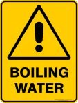 Warning Signs BOILING WATER