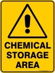 Warning Signs CHEMICAL STORAGE AREA