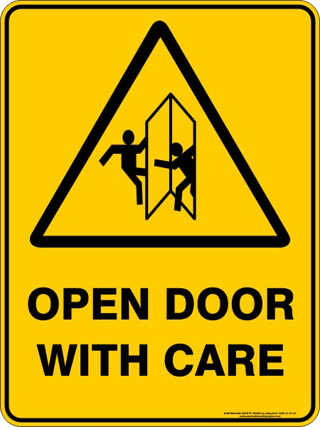 Open Door With Care Discount Safety Signs New Zealand