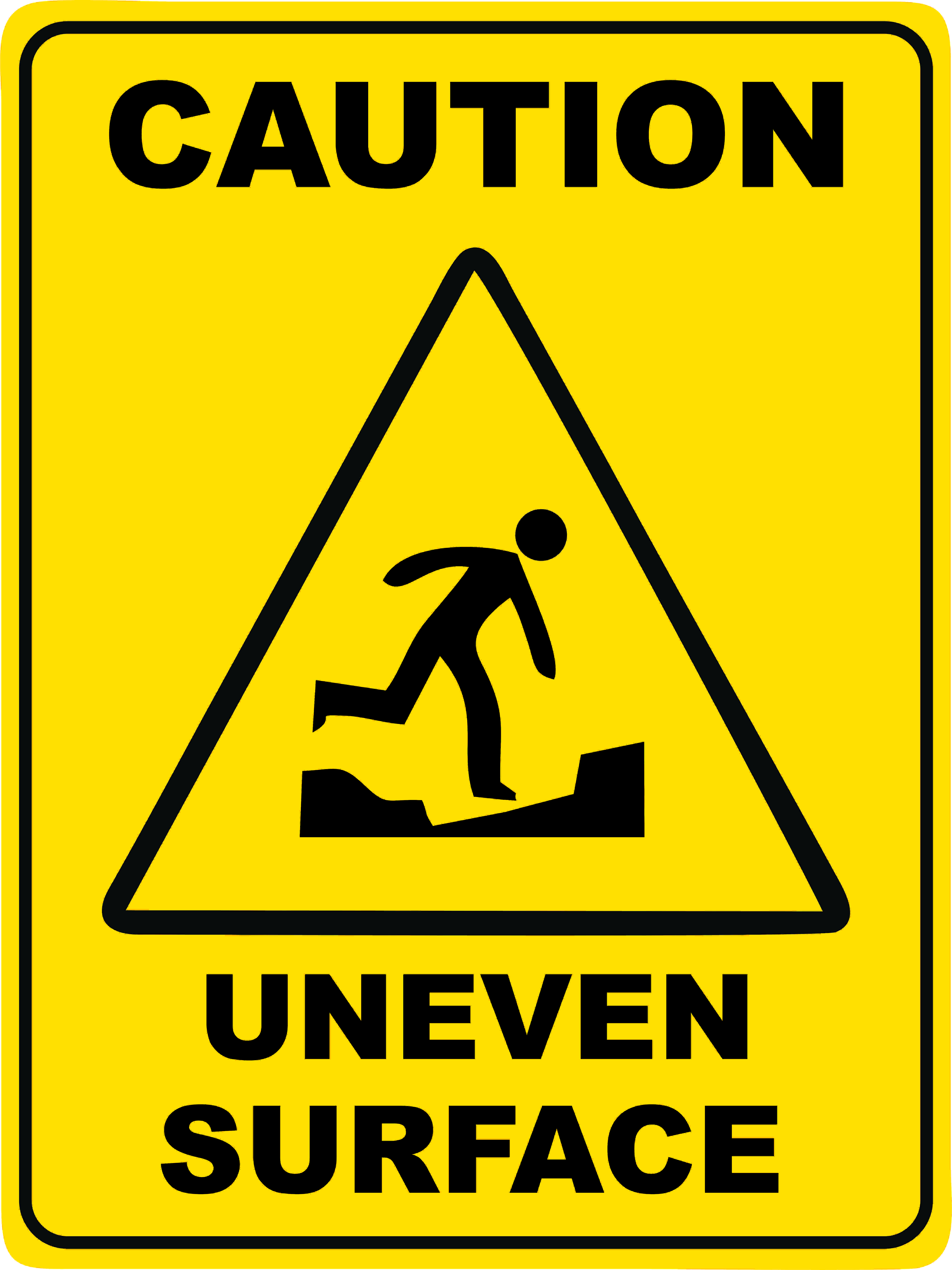 Uneven Surface Discount Safety Signs New Zealand