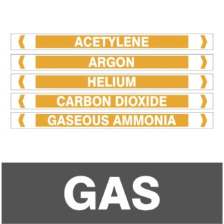 Gas Pipe Markers