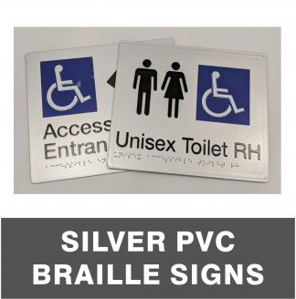 Silver PVC Braille Signs
